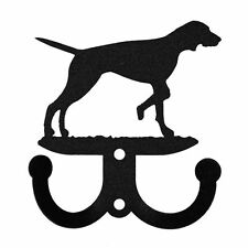 Swen Products English Pointer Metal 2 Hook Key Chain Holder Hanger