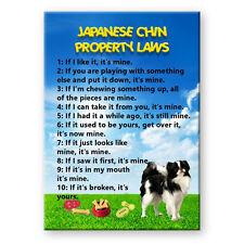 Japanese Chin Property Laws Fridge Magnet Steel Cased