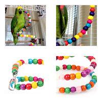 Pet Bird Parrot Swing Cage Toy Chew Bite Fr Parakeet Cockatiel Cockatoo Conure z
