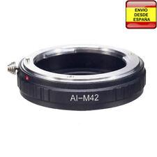 Anillo adaptador lentes Nikon para rosca M42 Zenit KMZ Pentax Mamiya Fuji Petri