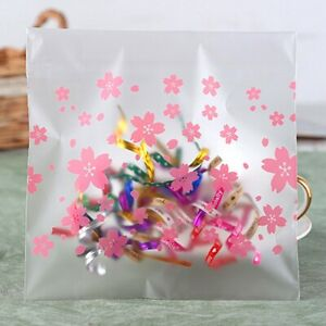 100pcs Self Adhesive Cookie Candy Lolly Baking Bag Package Plastic Gift Bags