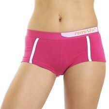 Remixx Damen Panty 4er Pack Farbmix Slip Hipster Unterhose Stretch Baumwolle