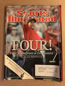 APRIL 18, 2005 Sports Illustrated TIGER WOODS 'FOUR!' WINS 4th MASTERS! PGA