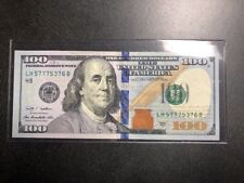 Lucky 100 Dollar Bill! Triple 7 Serial Number! 777!  Uncirculated Condition!
