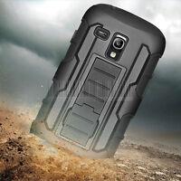 Armor Rugged Hybrid Hard Holster Case Cover For Samsung Galaxy S3 III Mini i8190