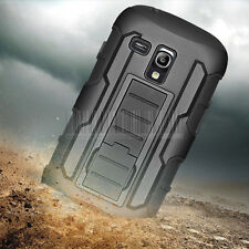 RUGGED HYBRID HARD CASE COVER BELT CLIP HOLSTER For Samsung Galaxy S3 Mini I8190