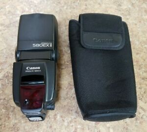 Canon Speedlite 580EX II Flash w/ Case Pre-owned Free Shipping