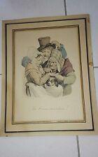 "CARICATURE ANCIENNE J. BOILLY 1824 ""LA BONNE AVENTURE"""
