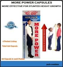 4 Pack More Power 100% Herbal Capsule Most Effective for Height Increase