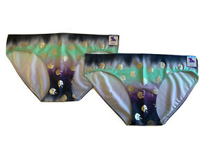 New Justice Underwear Panties 2 Bikini Style Caticorn Cat + Unicorn Ombre 18/20