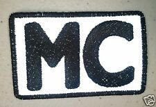 """(R) REFLECTIVE MC 3"""" x 2"""" iron on patch (3817) Motorcycle Club"""