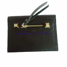 REBECCA MINKOFF Regan Card Case New Leather Black with Tag