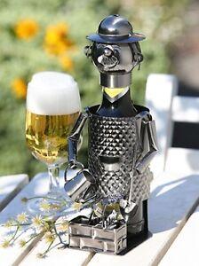 GILDE Flaschenhalter Bierflasche Halter Gärtner Garten Metall vernickelt 65049