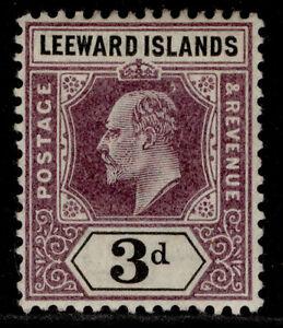 LEEWARD ISLANDS EDVII SG24, 3d dull purple & black, M MINT. Cat £12.