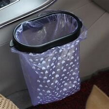 Black Auto Car Garbage Trash Carry Bag Sucker Trash Can Rack Hanger New DF