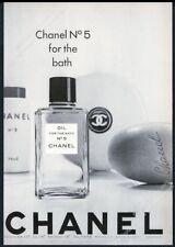 1963 Chanel No.5 soap bath oil talc powder photo vintage print ad
