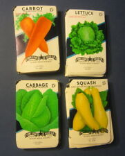 Wholesale Lot of 200 Old Vintage Vegetable SEED PACKETS - 15 cent - EMPTY - 4C