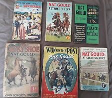 Nat Gould Novels x 6. Thrilling yarns of Horse racing and the Turf