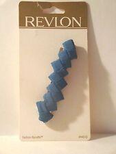 Revlon Fashion Barrette Blue Woven Ribbon Fabric RV44510 ~ NEW Retail Carded