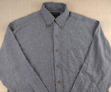 Brooks Brother Medium M Button Front Shirt Blue 100% Cotton Long Sleeve