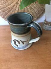 Handmade pottery ceramic mug, Vintage style