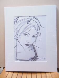 David Bromley Original DRAWING 41x32cm GIRL STUDY Working Drawing One ONLY