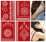 Temporary Tattoos weisse Spitze 4 Bögen weisses Tattoo Henna Art LACE SET 2