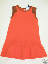 NWT Girls Ralph Lauren Polo Equestrian Suede Patch Jumper Dress Outfit Sz 5 NEW