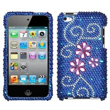 Juicy Flower Crystal Diamond BLING Hard Phone Case Cover for Apple iPod Touch 4