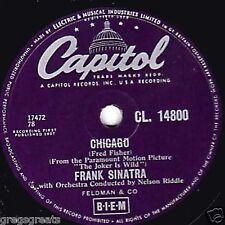 Clásico Frank Sinatra 78 Chicago/todo el camino 1957 Reino Unido # 3 Capitol CL 14800 ex