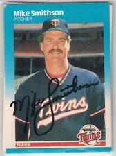 Minnesota Twins MIKE SMITHSON signed 1987 Fleer