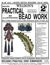 Weldon's 2D #38 c.1888 Vintage Bead Work Instructions for Tassels for Millinery