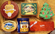 Metal Cookie Tin LOT Decorative Candy Sewing Box Holiday Craft Gift