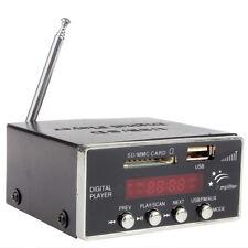 Digital Audio Power Amplifier Home SD USB MMC Mini Hi-Fi Stereo MP3 Player