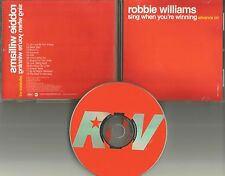 ROBBIE WILLIAMS Sing when you're winning DIFF ART ADVNCE PROMO CD Kylie Minogue