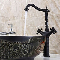Bathroom Sink Vessel Faucet Oil Rubbed Bronze Water One Hole Basin Mixer Tap-1