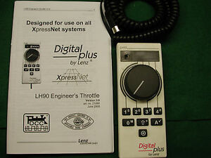 LENZ LH90 THROTTLE PRO DCC VERSION 3.6R, NEW REFURBISHED SPECIAL PURCHASE