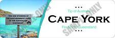 Tip of Australia Cape York Bumper Sticker - white b/g