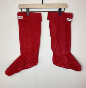 Hunter Original Tall Red Boot Socks US Size Large Women's 8-10 Men's 7-9