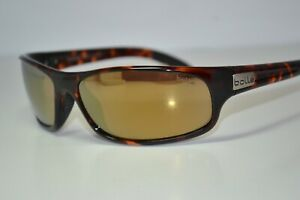 Used BOLLE Anaconda Brown Tortoise Mens Gold-Mirrored 11057 Polarized Sunglasses