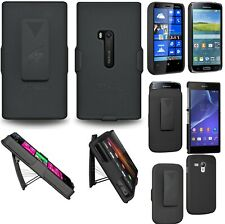 AMZER Hard Shellster Belt Clip Holster Case For Nokia Samsung Sony Xperia  Black