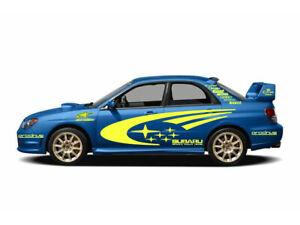 SUBARU IMPREZA WRX STI WRC FULL RALLY STARS VINYL DECALS KIT Stickers Full size