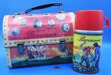 Lunchbox / Thermos '57 vtg BUCCANEERS Pirates Ship sailing Aladdin