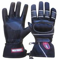Leather Motorcycle Motorbike Biker Gloves Thermal Long Biker Gloves