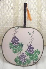 Purple grape Fan 1980's Purple Grape Hand Fan 1980's Vintage