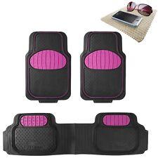 Universal Rubber Floor Mats Football Design Pink for Car SUV Van w/ FREE Gift