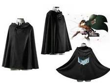 Attack On Titan Black Cape Cosplay Anime Shingeki no Kyojin Cloak