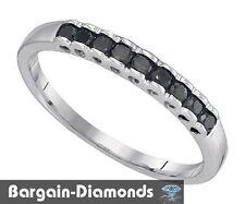 black diamond .25-carat wedding anniversary 10K white gold ring enhancer love