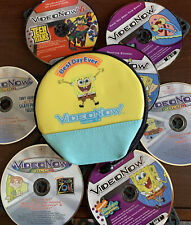 Video Now Spongebob CD Case Holder w 7 Discs! Tony Hawk Chalk Zone Teen Titans