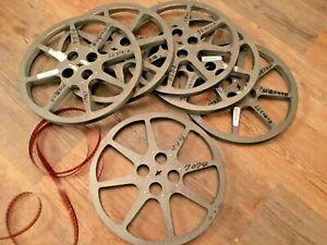 """1  VINTAGE 16MM 1200 FT 11 3/4 X 7/8 """" Metal MOVIE FILM REEL hub is 4.25"""" 8 star"""
